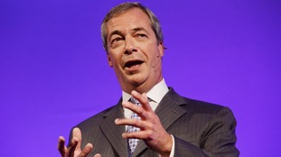 The UKIP leader Nigel Farage is due in Gloucester later