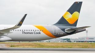 A Thomas Cook aeroplane.