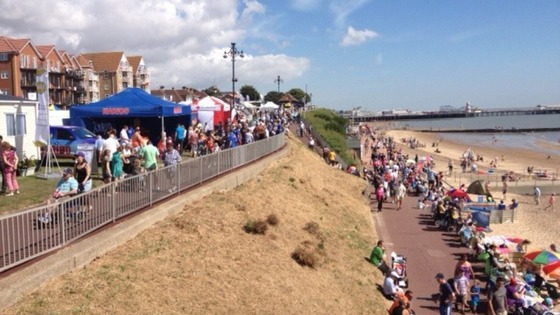Crowds begin to gather for Clacton Air Show