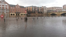 Flooding in York due to persistent Pennine rain