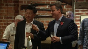 David Cameron and President Xi Jinping held off on bar snacks.