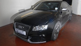The Audi RS5 driven by Ben Westwood