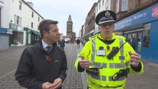 Inspector Stuart Wilson, right, and ITV Border's Tim Backshall