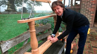 Rocking horse signed by Macca being auctioned for Alder Hey
