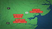 Three stabbings overnight in Essex