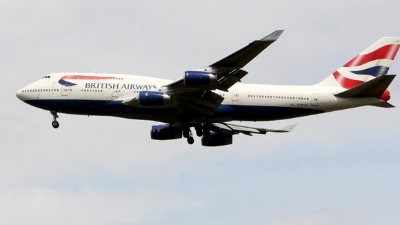 A British Airways Boeing 747 aircraft