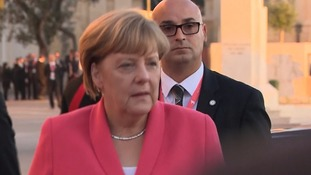 Angela Merkel arrives in Malta for the summit