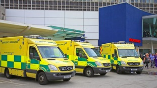 Ambulance crews were called to the scene