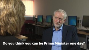 Our Correspondent Alison McKenzie asks Mr Corbyn about his chances of leading the country