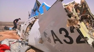 Crashed airliner