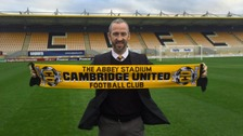 New manager Shaun Derry at the ground.