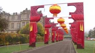 The lights of Longleat