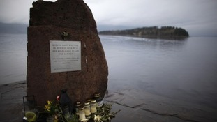 A memorial to those whose died on Utoya Island.