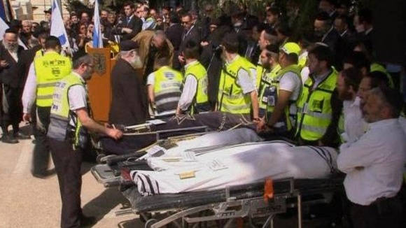 Jerusalem funerals of Toulouse victims