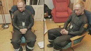 Anders Breivik following his arrest on Utoya island in July last year