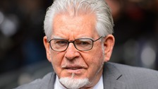 Rolf Harris outside Rolf Harris Southwark Crown Court