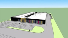 An impression of the new facility.