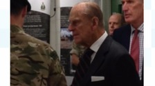 The Duke of Edinburgh is visiting the Marines at Devonport.