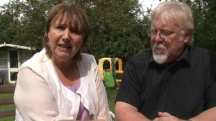 Funny Lady: Gaynor Cooper and husband Noel
