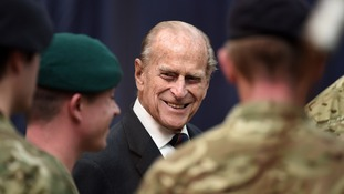 The Duke of Edinburgh visiting Royal Marines in Devonport
