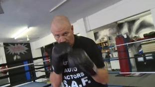 Steve Ward in training