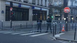Police Cordon around the Bataclan concert hall
