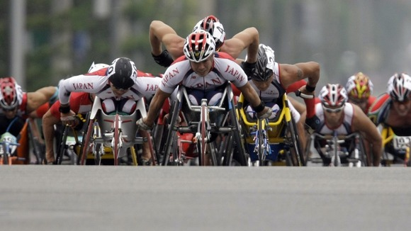 Athletes competing at the Beijing Paralympics in 2008