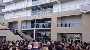 Princess Anne opened the Racecourse's new 5 and a half storey grandstand yesterday