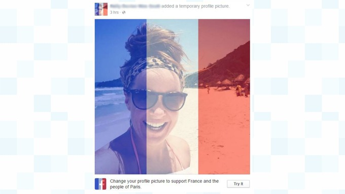A Profile Picture Updated With The France Flag Overlay