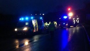 The A5 has been closed due to the collision