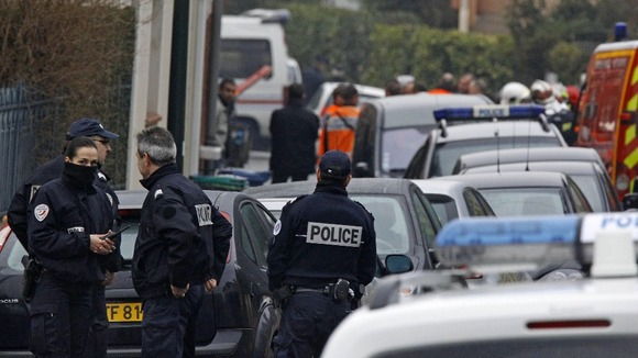 Police officers in Toulouse