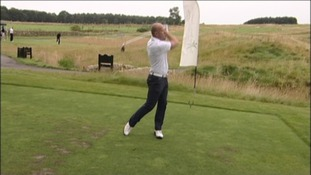 Shearer on golf course