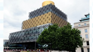 The Library of Birmingham is to be turned red, white and blue from 7pm