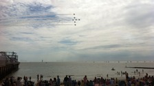 The Red Arrows at Clacton Air Show