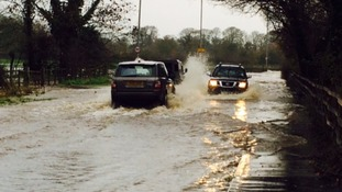 Flooding on the A65