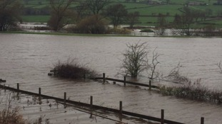 Flooded fields at Keighley