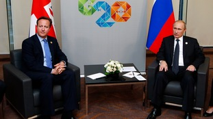 David Cameron and Vladimir Putin at last year's G20 in Australia