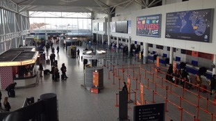Bristol Airport observes a minute's silence