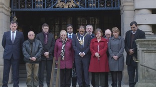 Sheffield's Council leaders stand silent