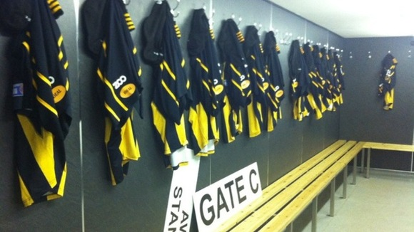 Home dressing room ready for action