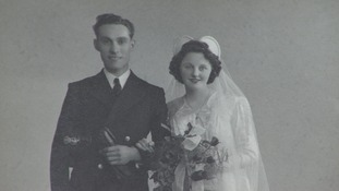 Ron on his wedding day in 1945