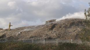Work begins to clear Great Heck's burning rubbish pile
