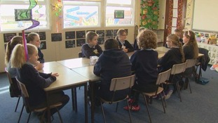 Children in Bridgend are using their lunch breaks to help pupils at their school deal with bullying.