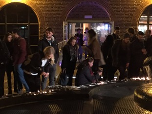 An estimated 700 hundred students turned out at the vigil earlier this evening.