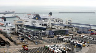 A general view of the Port of Dover.