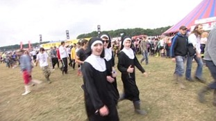 Nuns at festival