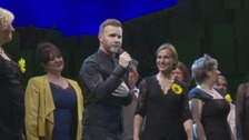Gary Barlow sang his new anthem Yorkshire