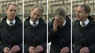 Graham Satchell was overcome with emotion while reporting from Paris