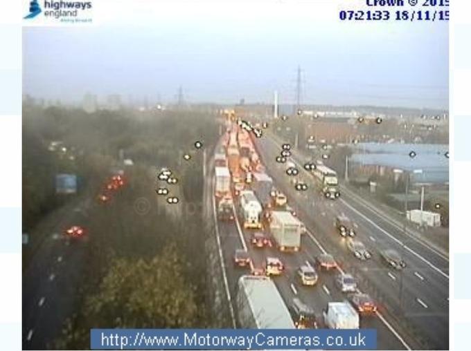 Live traffic cameras show major delays on M6 | Central - ITV News