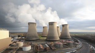 Drax power station in Yorkshire generates up to 8% of Britain's electricity.